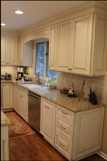 Cabinets With Black Appliances Visions Of Kitchen Sinks Cream