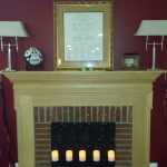 The full mantel - ignore the Jets ball up there.  That's not always there!