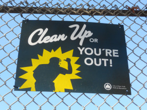 Clean Up or You're Out! :Brooklyn Street Sign
