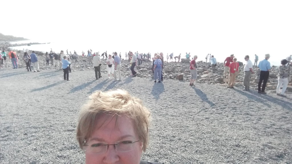 A Sea of Galilee selfie