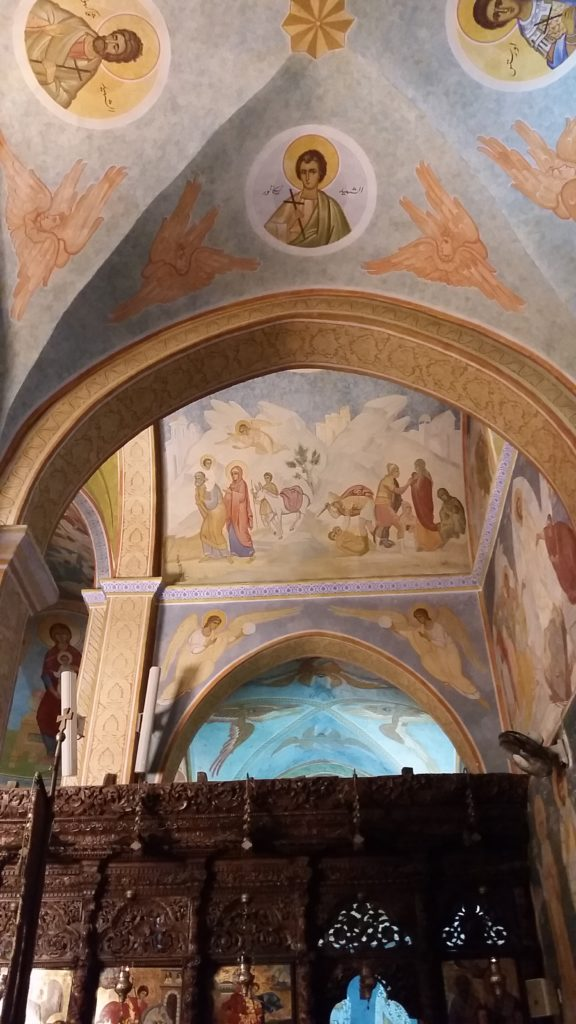 One section of the Greek Orthodox Church of the Annunciation in Nazareth
